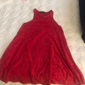 Red cotton sundress